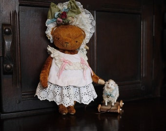 "PDF Epattern 9"" Teddy Bear Chantal and her dress"