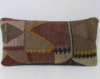 lumbar kilim pillow cover turkish cushion
