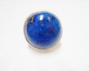 A Grade Lapis Lazuli Genuine Gemstone Slider (natural), High Quality 18mm round for Licorice Leather Bracelets