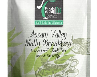 8 oz. Assam Valley Malty Breakfast Loose Black Tea with Free Tea Infuser