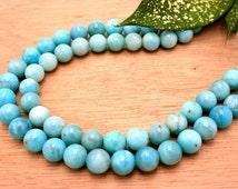 Peruvian Amazonite 9-10mm round beads (ETB00019)
