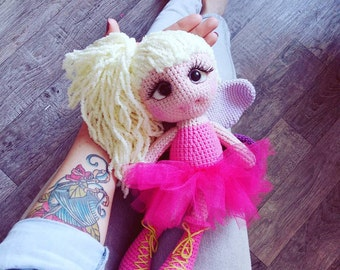 Crochet pattern  fairy Doll