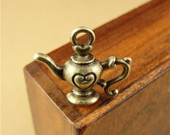 20cs 19x22mm Antique Bronze Teapot Charms Pendants Jewelry Findings AH1392