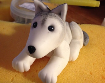 Sugar dog cake topper.  Can be customised to create different breeds.