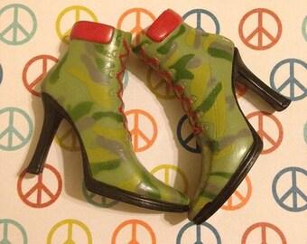 Replacement Bratz platform boots shoes for upscale custom prop accessory
