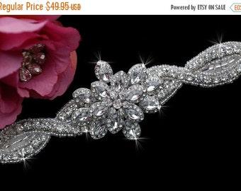 SALE - Beaded Bridal Headpiece , Bridal Headband , Wedding Headband , Wedding Head piece , Bridal Hair Accessories
