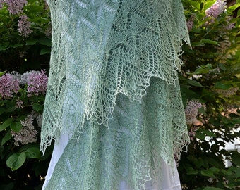 Knit Shawl Pattern ~ TANTE