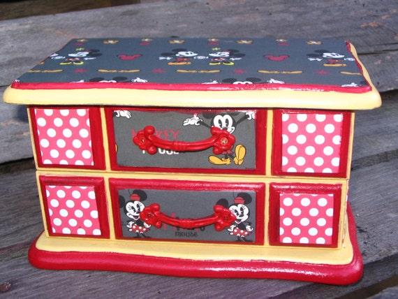 Mickey minnie mouse disney jewelry box by for Minnie mouse jewelry box