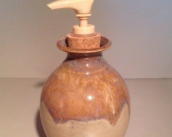 Rusty Pearl / Lotion pump / soap dispenser / handmade pottery ceramics
