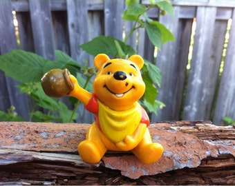 Winnie The Pooh Hard Plastic Toy with Pot for Honey