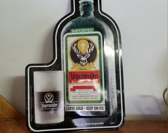 Jagermeifter Tin Wall Sign Hanging Collectible