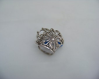 Antique Silver Scarf Ring with Bail  4258