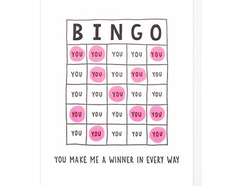 Bingo Letterpress Card