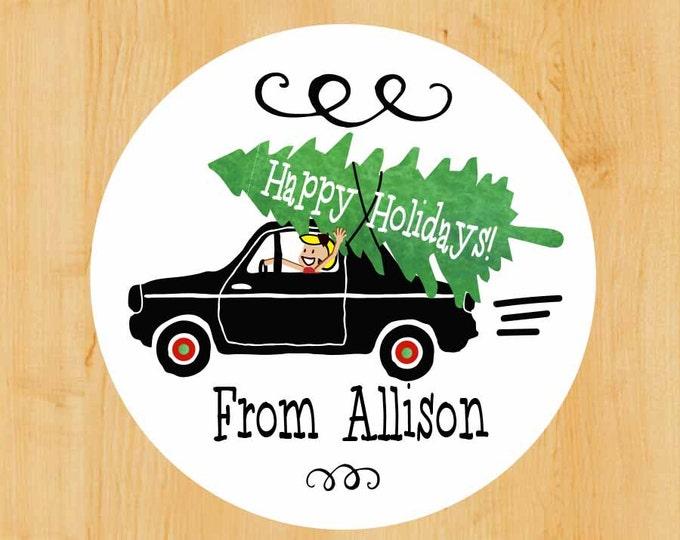Custom Holiday Labels | Christmas label | Winter Stickers | Holiday Sticker | Christmas Envelope Sticker | Envelope Seal.
