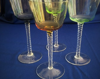 Set of 4 Assorted Colored Cordials from Italy