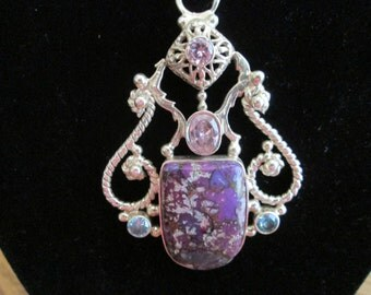 Purple Mojave Turquoise pendant