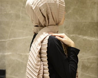 Cotton Pleated Hijab Shawl,Scarves,Good quality.