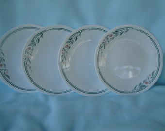 4 Corelle Rosemarie Bread and Butter Plates/Corningware Plates