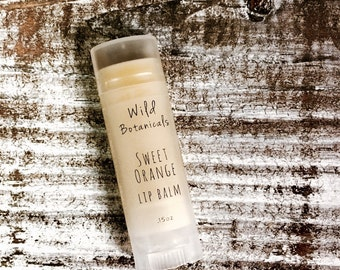 Sweet Orange Lip Balm, All Natural