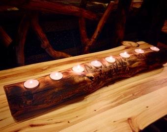 Aspen Log Candle Holder, Wood Candle Holder, Home Decor