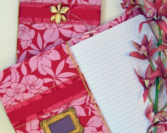 "Handmade Journals- Appreciation Notebook ""Book of Positive Aspects"" Orchid Blank Diary"