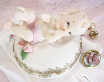 Baby Trinket Box By Marika Originals Lefton