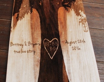 Personalized Maple wood Cutting Board Engraved by Laser Anniversary, housewarming gift, wedding gift,