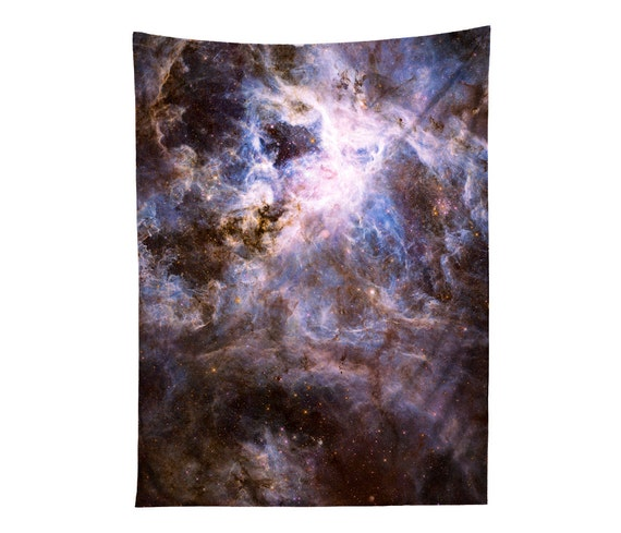 Galaxy tapestry print nebula wall hanging outer space for Wall decor outer space