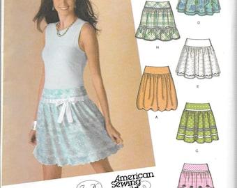 Design Your Own SKIRTS Simplicity Juniors Plus Pattern 4285 Junior Sizes 15/16+ - 25/26+