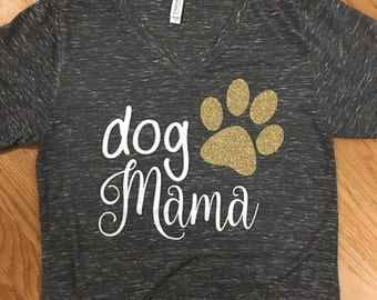 Dog Mama Triblend Tshirt