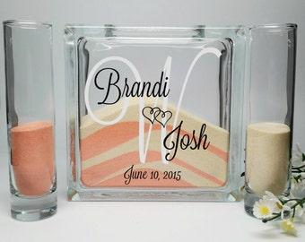 Sand Ceremony Set, Unity Sand Vase , Sand Shadow Box Kit, Wedding Sand,