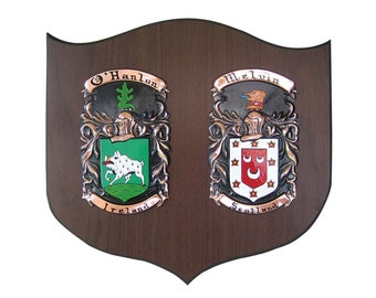 Double Coat Of Arms On Copper.