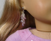 """Iridecent Pink Shaggy Earring Dangles for 18"""" Play Dolls such as American Girl®"""
