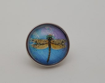 Glass Popper Snap Dragonfly Snap Charm Jewelry