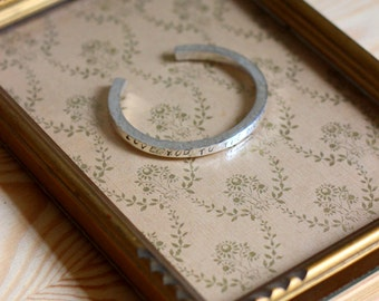 MAXIM hammered square ring Silver 925 bracelet