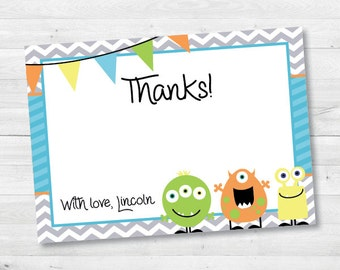 Our Little Monster Thank You Notes