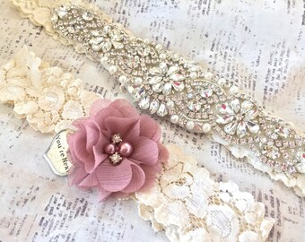 Rhinestone Garter, Crystal Garter - Crystal Garter Set, Rhinestone Wedding Garter Set, Vintage Bridal Garter, Crystal Garter Belt, Garters