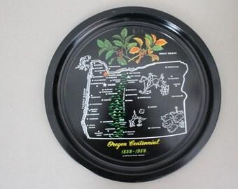 Oregon Centennial Souvenir Tray
