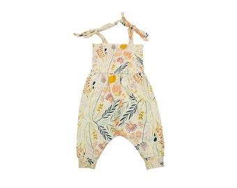 Baby Harem Romper, Toddler Harem Romper, Girls Romper, Baby Romper, Toddler Romper, Baby Girl Romper, Floral Romper, Windswept Prairie