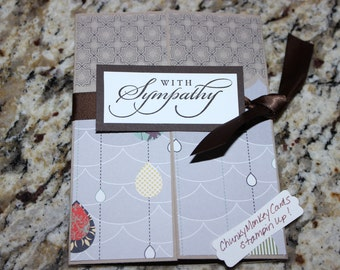 Stampin up homemade greeting card With Sympathy