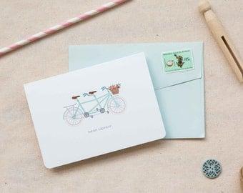 Love / Friendship Card  |  Vintage Tandem Bicycle