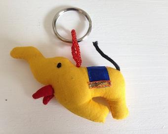 Indian elephant plush keychain