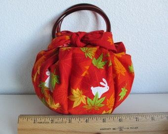 Japanese Furoshiki Strawberry Bag - Usagi Bunny Rabbit