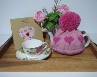 Hand knitted 100% wool teacosy