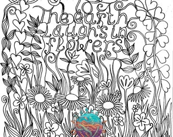 earth flower coloring pages - photo#37