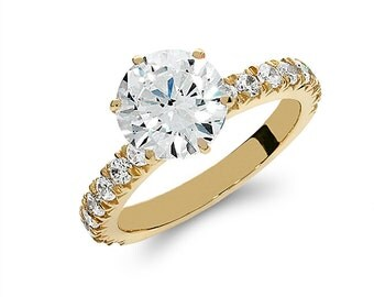14k solid gold cubic zirconia engagement ring. promise ring, fancy ring,