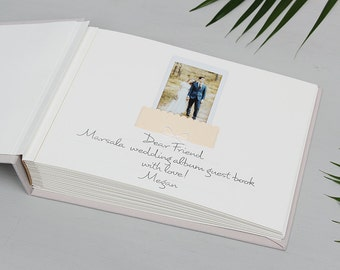 Guest Book Wedding Instant Photo Album Cream with Ribbon - by Liumy