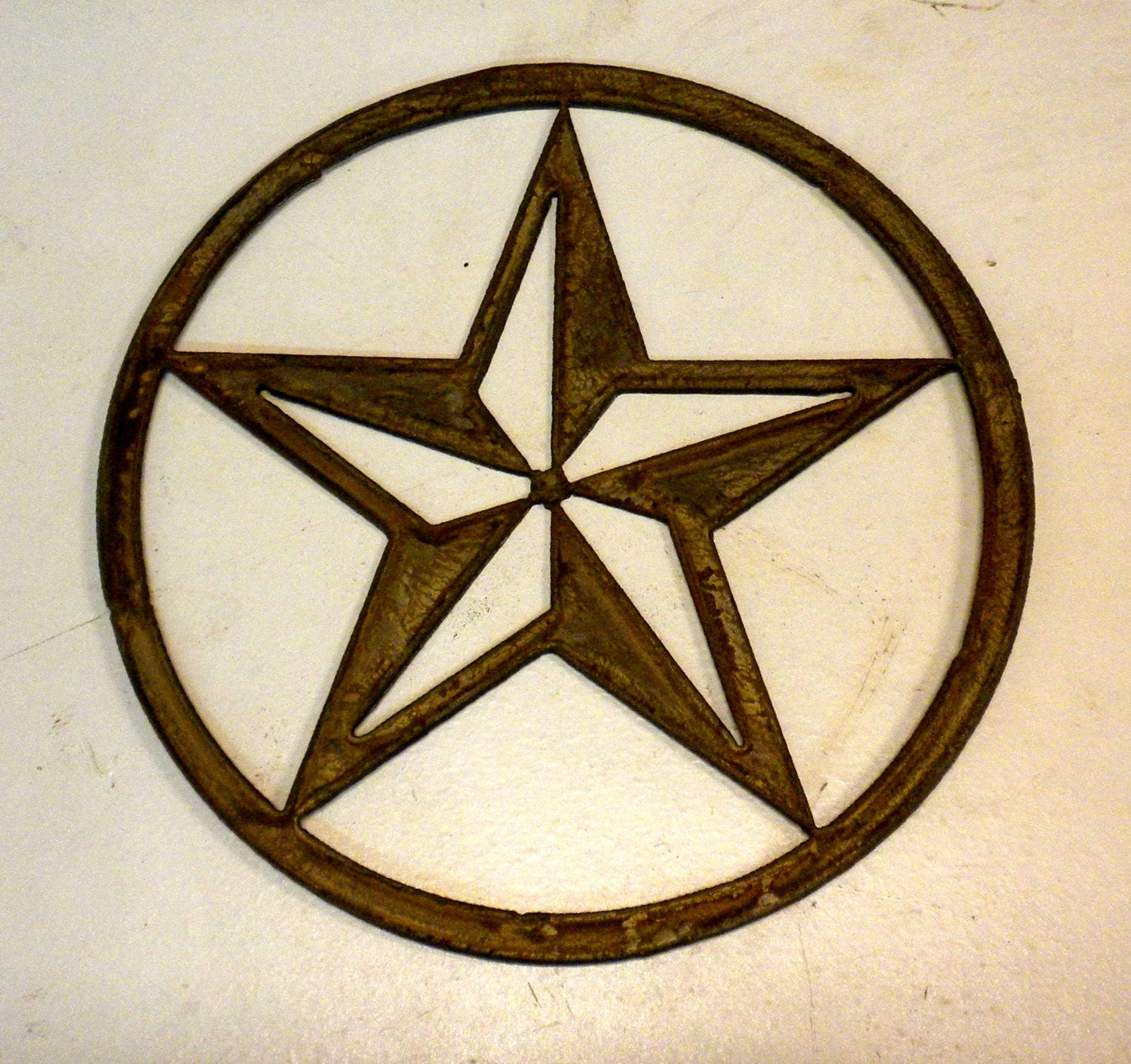Vintage Star Wall Decor : Inch texas star rusty vintage antique y metal steel wall art