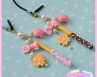 Japanese sweets keychain phone strap cute and kawaii