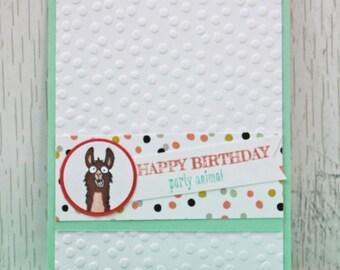 Llama Party Animal Birthday Card